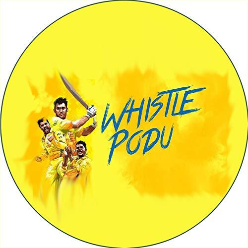 D2C Chennai Super Kings-CSK-Indian Premier League-IPL Button Badges (Whistle Podu)
