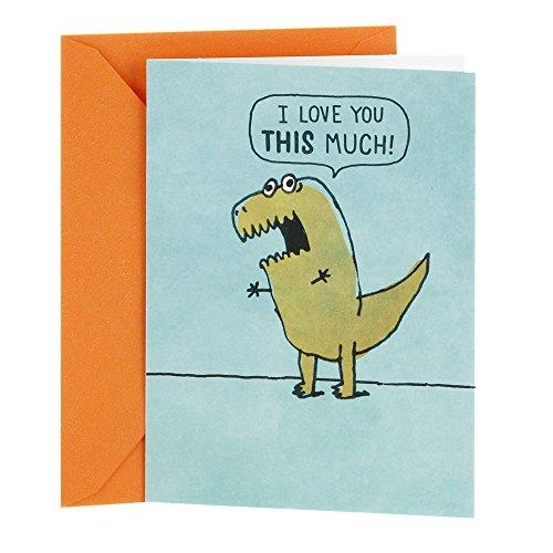 Hallmark Shoebox Funny Love Card, Anniversary Card, or Birthday Card (T Rex Arms)