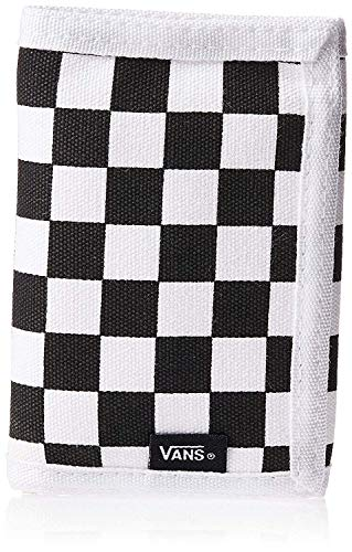 Vans, The Slipped Tri-Fold Wallet (Black/White Checkerboard - One Size)