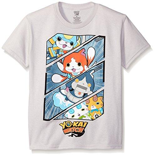 Yo Kai Little Boys' Short Sleeve T-Shirt Shirt, Silver, Small/4