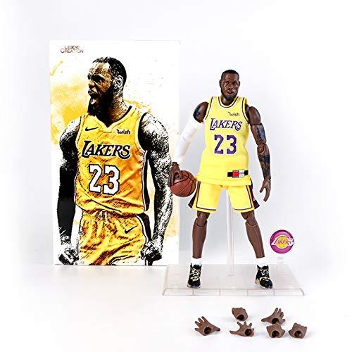 MXUS 1/9 NBA L.A. Lakers Lebron James Figura di Azione, Giocattolo Handmade PVC di Protezione Ambientale di Alta qualità, Il Miglior Regalo per Halloween, Natale E Ringraziamento