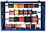 (24) Automotive Electrical Primary Wire 100 FT Rolls & Mountable 27' Steel Spool Rack Assortment - 10 AWG to 20 Gauge Cable - USA
