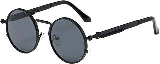 7e6194516a URIBAKY Gafas de sol Vintage Animal Print Lentes Redondos Gafas de sol  Retro Clásicas para Hombre