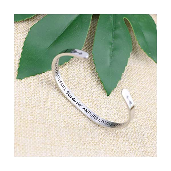 Joycuff Bracelets for Women Personalized Inspirational Jewelry Mantra Cuff Bangle Friend Encouragement Gift for Her