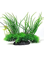 Artificial Aquarium Plants Fish Tank Decorations Plastic Water Grass, for Household and Office Aquarium & Fish Tank