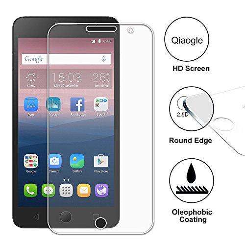 Qiaogle Display Gehärtetes Glas Schutzfolie für Alcatel One Touch Pop Star 5022D Schirm Schutz [mit 9H Härte * Ultra klar * Anti-Kratz]