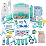 BRIGHTSHOW Toys 44Pcs Doctor Medical Kit - Pretend Play Set for Kids Doctor Role Play Cost...
