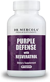 Dr. Mercola, Purple Defense with Resveratrol, 90 Servings (90 Capsules), Supports Memory and Concentration, Supports Immune System Health, Non GMO, Soy-Free, Gluten Free
