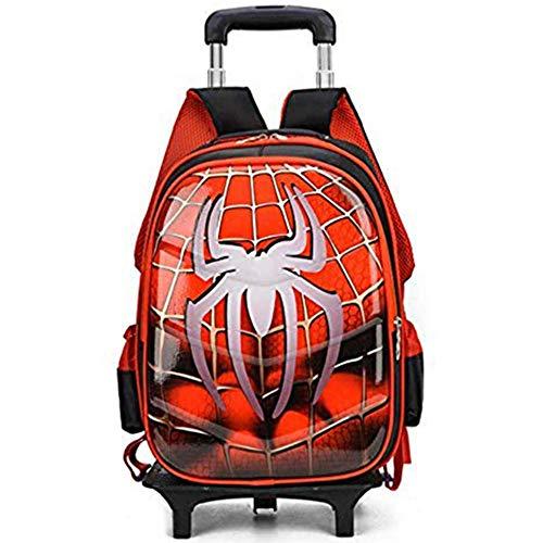 RUOXI Schultasche Spiderman 3D Anime Reisegepäck 20-35L Studenten Schultasche Treppensteigen Koffer Kinder Cartoon Rucksack Junge2Räder