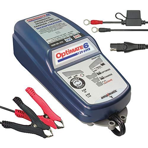 OptiMATE 6 12V-24V, TM-193, 8 step 5A 12V / 2.5A 24V Battery Saving charger-tester-maintainer