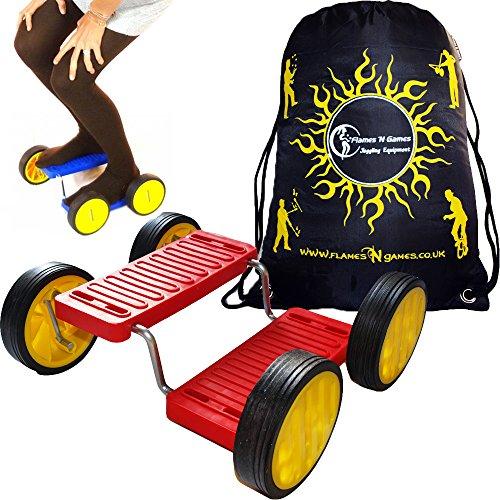 Flames N Games Step Fun + Bolsa de Viaje (Rojo) Soporte de Pedal de Equilibrio de Circo