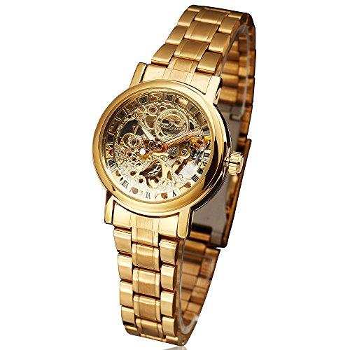 Winner Fashion marca mujer hembra reloj elegante negocios esqueleto automático mecánico deporte reloj de regalo de lujo muñeca vestido