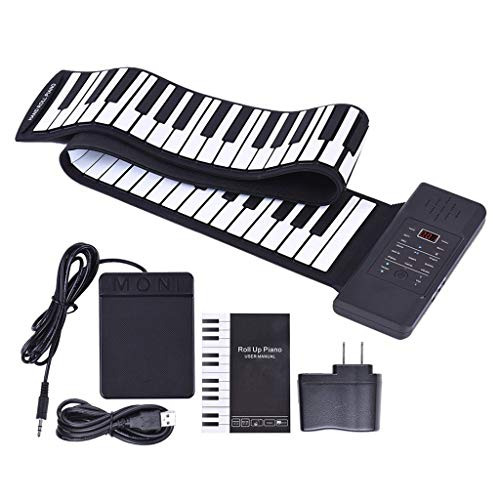 Great Features Of Electronic Digital Piano Portable Piano Folding Piano Silicone Hand Roll Keyboard ...