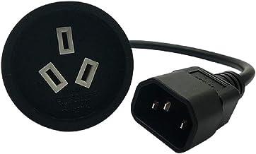 Tekit IEC 320 C14 Male Plug to SAA Australia AU 3Pin Female Power Extension Cable,Power Adapter Cord for PDU PSU USP