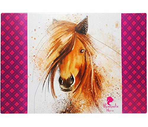 alles-meine.de GmbH XL - Schreibtischunterlage / Unterlage -  Pferd - Romantic Horse  - 60 cm * 40 cm - Tischunterlage / Knetunterlage / Bastelunterlage - beschichtet & abwasch..