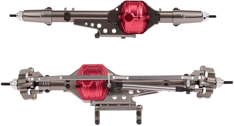 Goolsky Vorder- und Hinterradbrücke Achswelle Metall für 1 10 Axial Wraith 90018 90020 90056 RC Crawler Climbing Auto DIY