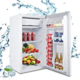 MOOSOO Compact Refrigerator, 3.2 Cu.Ft Mini Fridge with Freezer, Small Refrigerator with Ultra Quiet,...
