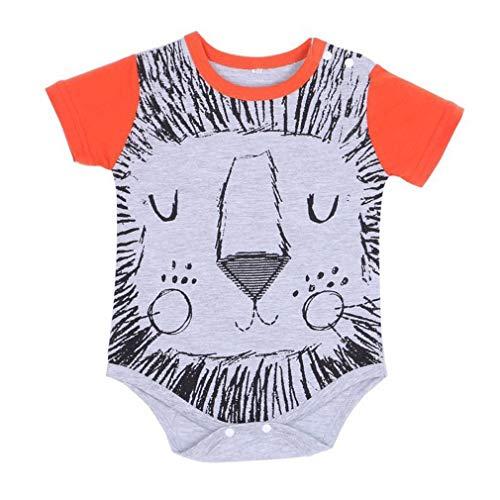 YiyiLai YiyiLai Kind Neugeborene Cartoon Form Sommer Bodysuit Playsuit Babystrampler Strampelanzug In-Outdoor Kurzarm 90 Grau