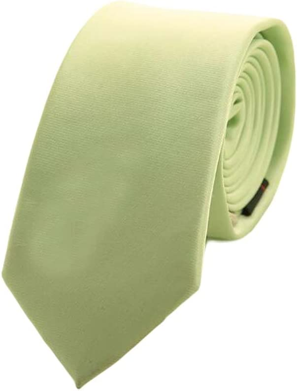 Wukong Direct Solid Color Formal Neckties Mens Polyester Skinny Neckties Light Green 6 cm