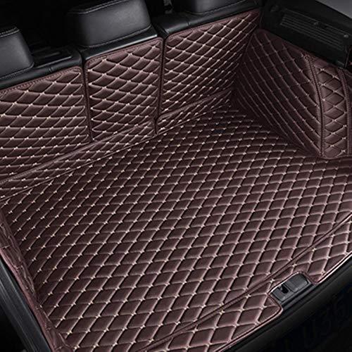 Hunulu Kofferraummatten FüR Jaguar F-PACE E-PACE XF XE XJ XK Antirutschmatte Kofferraumdecke Kofferraumwanne Schmutzmatte, Kaffee,