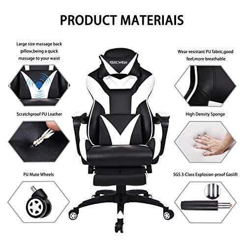 ELECWISH Massage Computer Gaming Chair