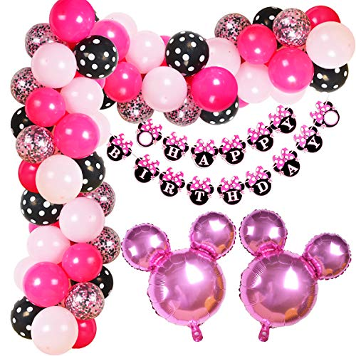 Kreatwow Minnie Ballon Garland Arch Kit für Minnie unter dem Motto Birthday Party Dekorationen oder Baby Shower Supplies