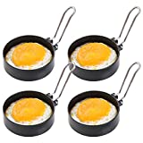 IWILCS Non-Stick Egg Rings, Pancake Mold Ring, Non Stick Omelet Mold, Pancake Mold Round, Egg Ring Mold, Cooking Mould Suitable for Fried and Poached Eggs Crumpets, Mini Pancakes(4 Packs)