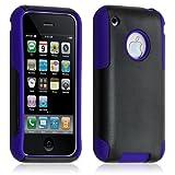 ATM ENTERPRISES Funda Funda Carcasa para Apple iPhone 3G/3Gs Color Azul + Película de protección