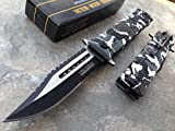 Tac-force Assisted Opening Sawback Bowie Rescue Camo Glass Breaker Knife New!!!'