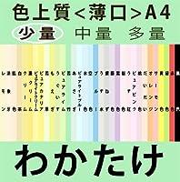 色上質(少量)A4<薄口>[若竹](100枚)