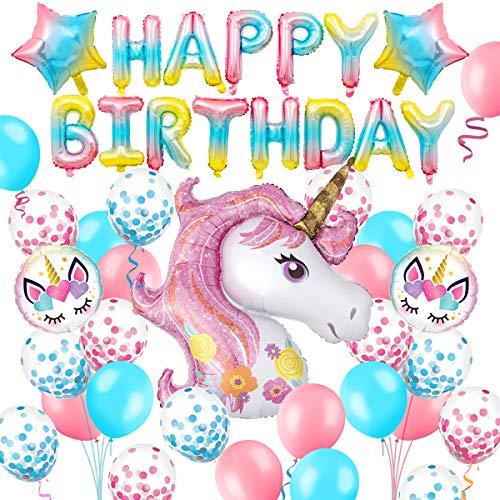 Humairc Unicornio arcoíris decoración de cumpleaños para niñas y niños