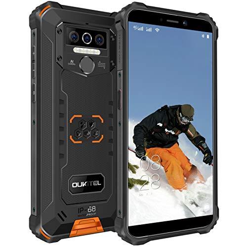 Rugged Smartphone Economici OUKITEL WP5 Pro, Batteria 8000mAh, Display 5.5 Pollici,Otto-core 4GB +64GB Cellulari in Offerte, IP68 Impermeabile Antiurto, Android 10.0, Dual SIM OTG GPS Telefono Arancio