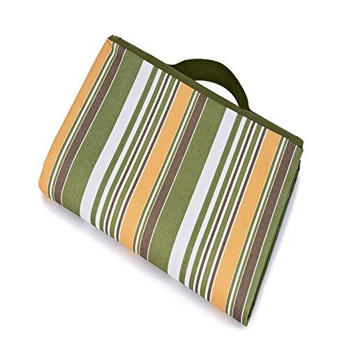 SONGHJ Polyester Picknickmatte Striped Print Wasserdicht Feuchtigkeitsbeständige Picknickmatte Strandmatte