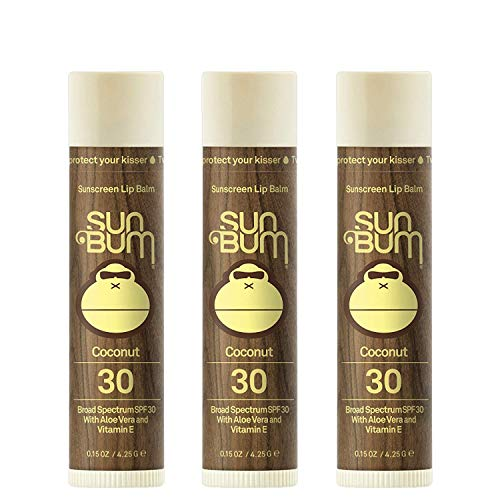 Sun Bum SPF 30 Lip Balm Coconut 3 Pack by Sun Bum For you
