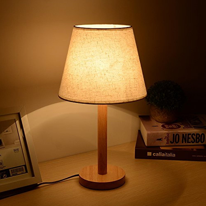 Moderne Kurze Originalitt, Massivholz Tuch Kunst Lampe, Warmes Licht Augenschutz, Schlafzimmer, Bad, Bett, Wohnzimmer, Arbeitszimmer, Führte Energiesparende Lampe
