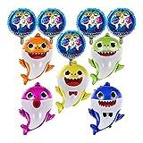 T-XYD Baby Shark Globos Globos de lámina de Familia de Tiburones para niños con Globos Redondos de 5 Piezas Fiesta De Cumpleaños De Tema Animal Suministros de decoración