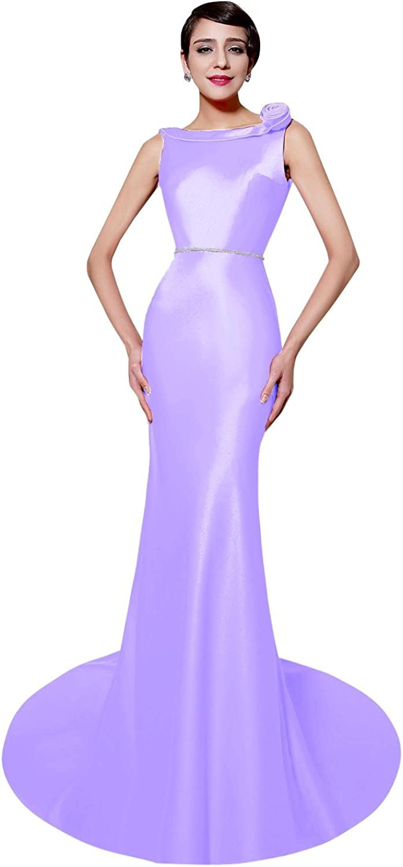 JudyBridal Women Formal Elegant Long Prom Dresses with Sweep Train