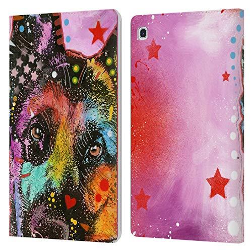 Officiële Dean Russo Duitse herder Honden Lederen Book Portemonnee Cover Compatibel voor Samsung Galaxy Tab S5e