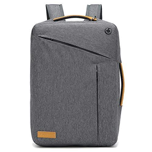 JANSBEN Laptop Rucksack Tasche 15.6 Zoll mit Schloss Herren Damen Business Anti Diebstahl Rucksack Uni Reisen Schulrucksack für Arbeit Schule,Grey
