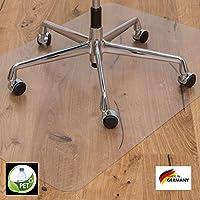 Kaiser Alfombrilla para Suelos | Made-In-Germany | para Piso Duro | 90 x 120 cm | Transparente | Pet ecológico