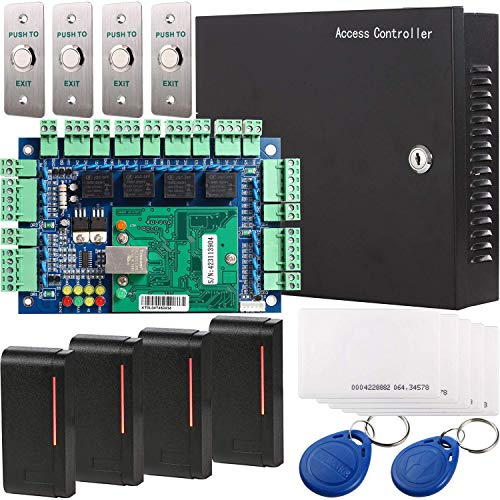 UHPPOTE Wiegand 26-40 bit Network RFID Access Control Board Kit Metal AC110V Power Box For 4 Doors - Power