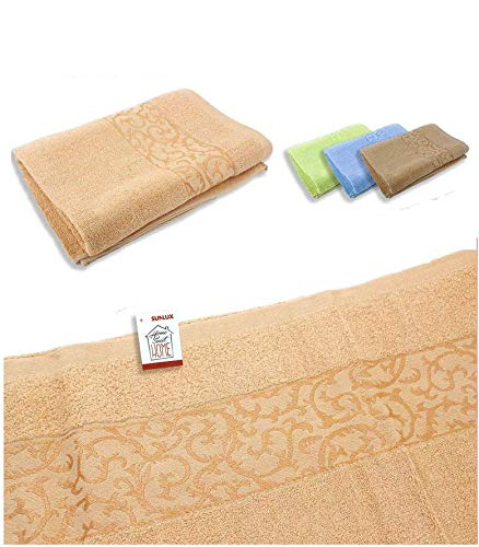 takestop® Handtuch Set 6 Stück bunt mit Eiskönigin Sun_0153 großes Gesicht, 48 x 98 cm, Frottee Baumwolle, einfarbig, Badetuch in zufälliger Farbe
