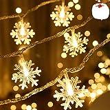 Catena Luminosa,Led Fiocco Di Neve Catena Luci,Natalizie A Forma Di Fiocco,Stringa Fata Luce,Per La Decorazione Casa Natale Partito