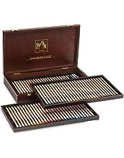 Caran d'Ache Luminance 6901 ahşap saklama kutusu, 80 renkli kalemli ürün yelpazesi, 76 renk + 4 çift renk, 6901.476