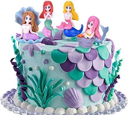 San Jose Mall 4 Pcs Cute Shell Mermaid Characters Figurines Ca For Cheap bargain Ocean Theme