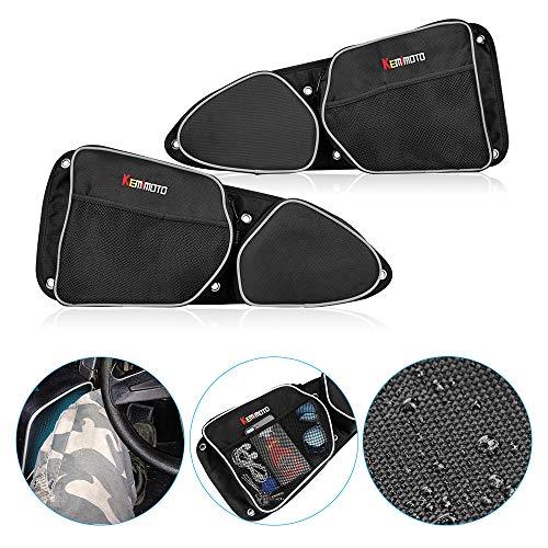 Best Price! Side Door Bags for Polaris RZR, KEMiMOTO UTV Front Door Driver and Passenger Side Storag...