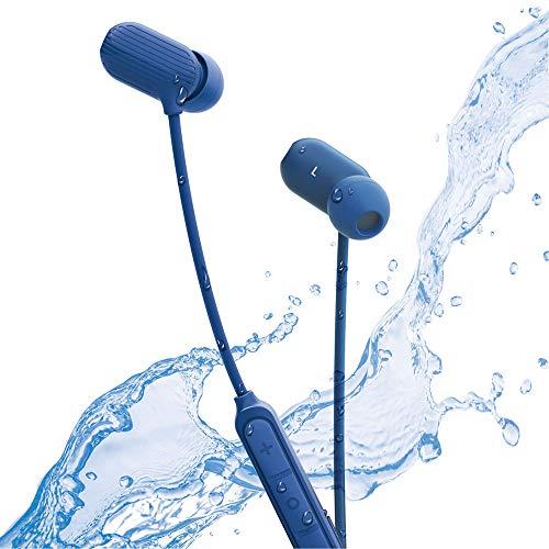 ラディウス radius HP-S50BT ワイヤレスイヤホン : Bluetooth対応 ブルートゥース イヤホン IPX5 防水 スポーツ マグネット搭載 HP-S50BTB (ブルー)