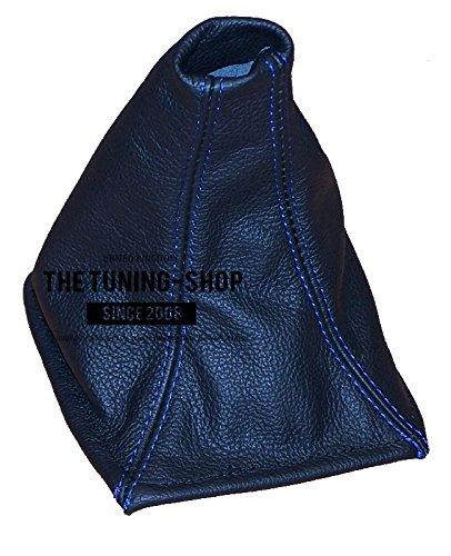 Für Toyota Celica 1999–05SCHALTSACK schwarz Italienisches Leder Blau Naht