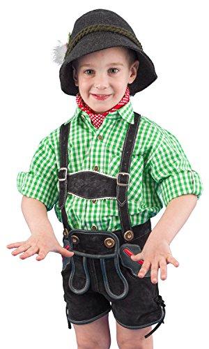 Isar-Trachten Ederer Max Kinder Trachtenhemd 52915 grün Größe 92
