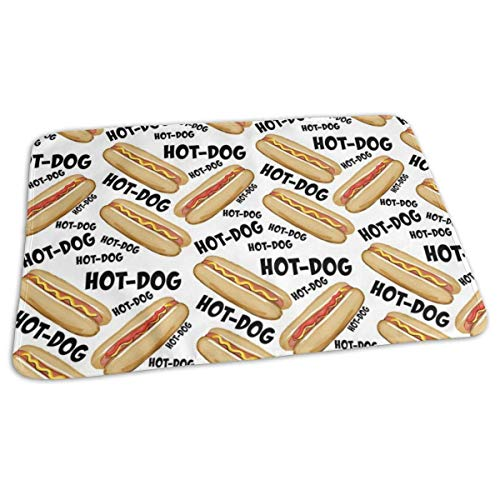 Hot-Dog Hot Off De Grill, Baby Draagbare Herbruikbare Verwisselbare Pad Mat 25,5 x 31.5